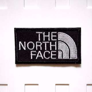 The North Face Logo Iron On Patch