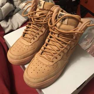 Nike air force 1s WHEAT