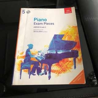 Piano exam book