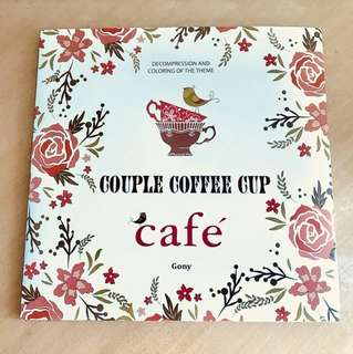 Couple Coffee Cup Adult Coloring Book