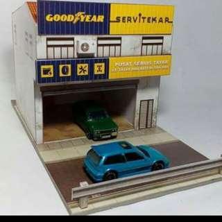 Diorama paper model