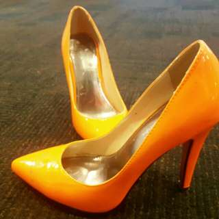 Fluro orange marco gianni heels size 7 worn once