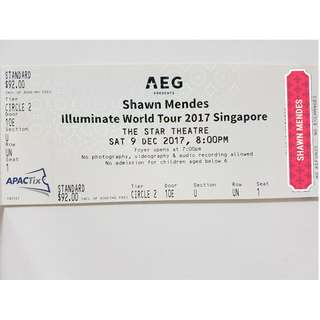 [WTS] Shawn Mendes 'Illuminate World Tour' in Singapore - CAT 3 ticket