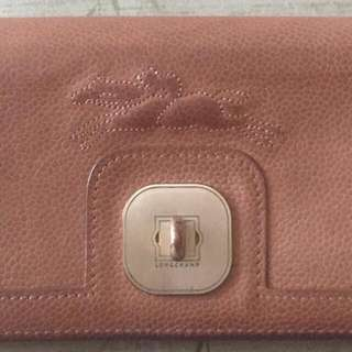 Longchamp Auth Wallet Brown