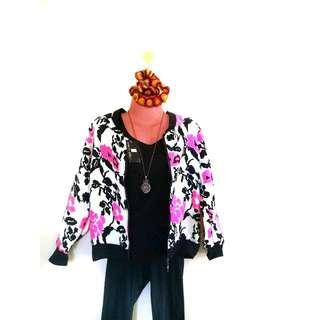 Floral Bomber Jacket (Freesize)