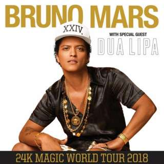 1 Ticket / Bruno Mars 24K Magic World Tour @ Melbourne / 7th March 2018