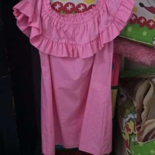 Stradivarius pink mini dress
