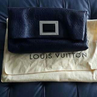 LV leather clutch bag