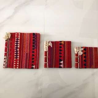 Pretty Northern Thailand hill tribe design note books (set of 3)