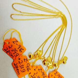 Gelang Kaki emas916