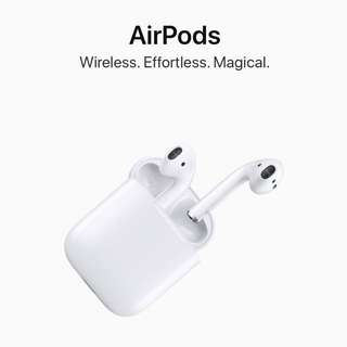 Brand New Authentic Apple AirPods With 1 year Apple International Warranty
