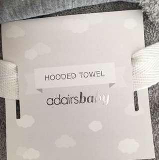 ADAIRS BABY HODDED TOWEL