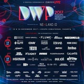 2 Tickets to D.W.P - Djakarta Warehouse Project