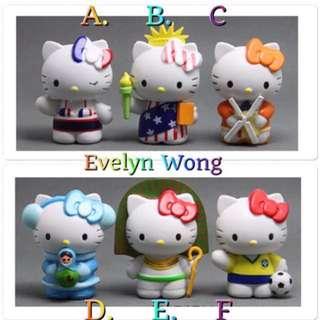 ☘ Terrarium Accessories / Miniature / scrapbooking, gardening deco, photo frame deco, home deco, figurine etc - Hello Kitty Of The World