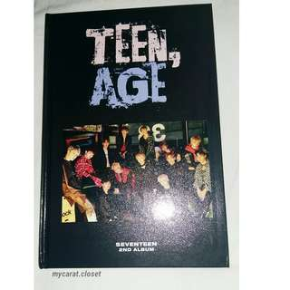 [PRICE REDUCED!!] UNSEALED SEVENTEEN TEEN,AGE ALBUM RS VER