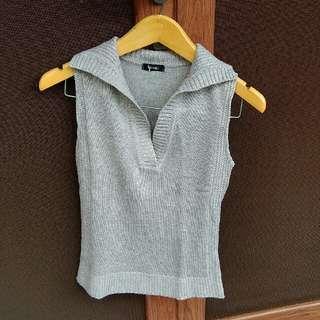 Grey Top Knit