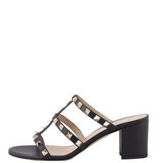 Authentic Valentino Rockstud Caged Slide Heel Sandals