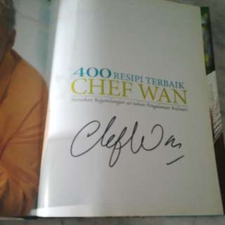 Chef wan cookbook ( malay ) autographed by chef wan himself
