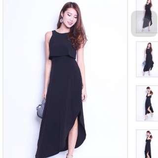 BNWOT Black Maxi Dress