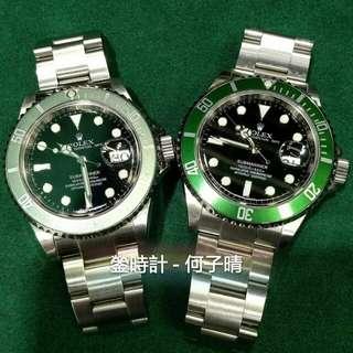 Rolex 16610lv 綠黑 五十周年紀念板 尾期内影