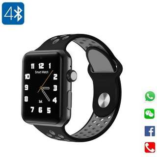 [ 又到聖誕~ ] 智能手錶 Smart Watch- WHATSAPP ,WECHAT FB IG QQ 信息顯示/來電顯示/心率監測/卡路里計算 /計步器/睡眠監測 IP32 Fitness Tracker Heart Rate Monitor Pedometer for iPhone Android (Black/Grey)