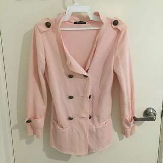 Soft pink cardigan/coat