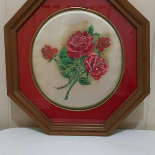 Rose on Satin painting