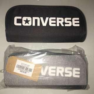 New Authentic Converse 20cm By 9cm Zipper Pencil Case
