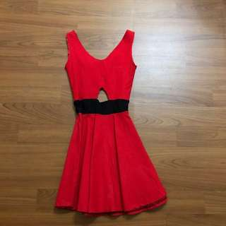 Red elegant mini dress #diskonkaget