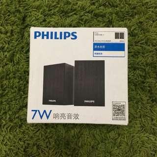 Brand new Philips 7W speakers