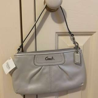 [NEW] RRP$130 Coach silver platinum purse with card slots genuine
