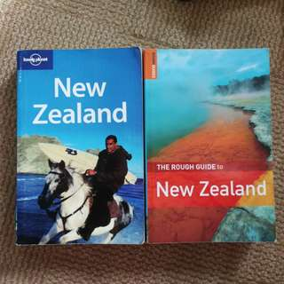 Lonely planet and Rough guide to NEW ZEALAND