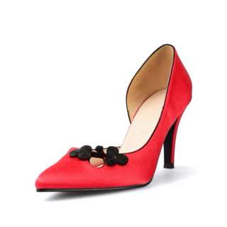 Christy Ng Princess Taiping Red Mid Heels