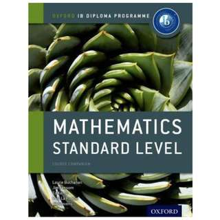 Oxford International Baccalaureate IB Diploma Mathematics Standard Level SL Textbook Course book