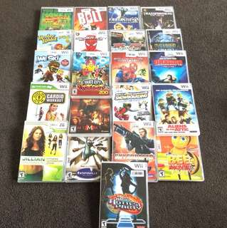 21 x Wii Games (not originals)