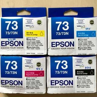Genuine Epson 73N - Standard Capacity DURABrite Ultra - Black Ink Cartridge