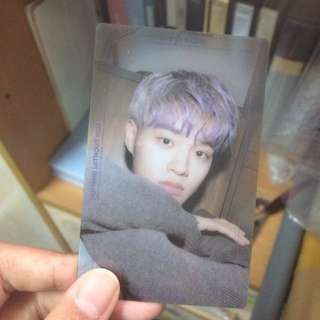 wts nothing without you photocard wanna version