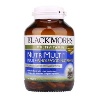 Blackmores NutriMulti 100 Tablets for nutritional support, including cellular energy production and everyday health, health functioning of the immune system and skin repair and wound healing. #1212YES