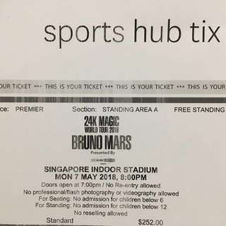 Bruno Mars Live Concert in Singapore -7May18