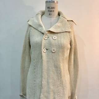 🚚 米黃色針織外套