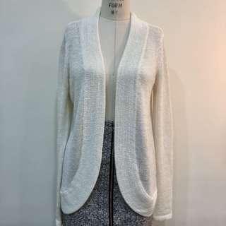🚚 白色針織外套