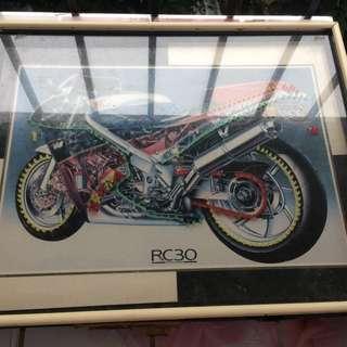 Frame Motocycle RC30