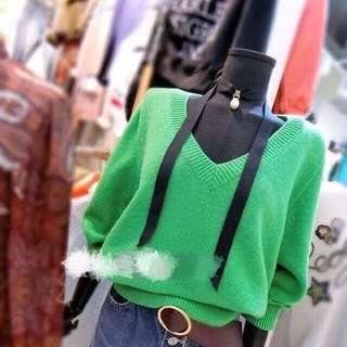 🚚 正韓 綠毛衣