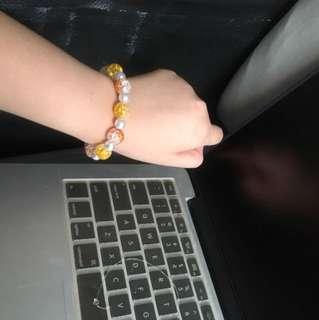 Yellow orange bracelet