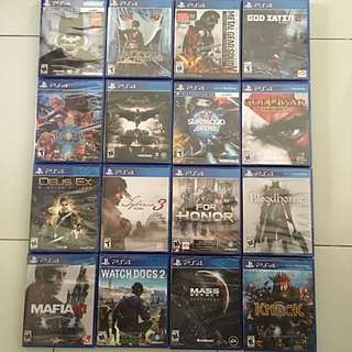 PS4 Games Year End Clearance Sales Round 1 (All Brand New & Sealed Games)