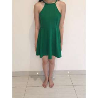 Midi Green Dress Size XS (Preloved)