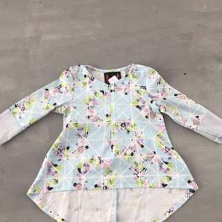 kids fishtail top 1-2y/o