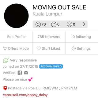 RECOMMENDED SELLER 💕