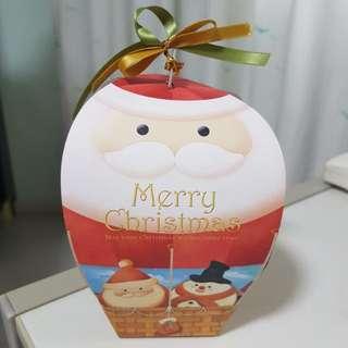 Christmas Santa Claus And Snowman 3D Gift Box