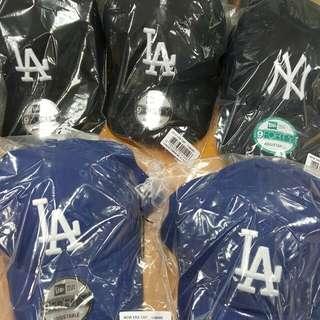 正品 現貨 New Era LA Cap 帽 NY 9FORTY  棒球帽 老帽 紐約 洋基 鴨蛇帽 logo 電繡